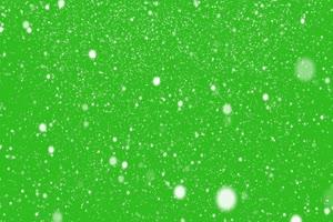 控雪静止 绿屏抠像素材 巧影特效