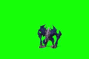 怪物前面 绿幕视频 绿幕素材 剪映抠像素材手机特效图片