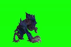4K 怪兽侧面大图 绿幕素材 绿幕视频 动物绿幕手机特效图片