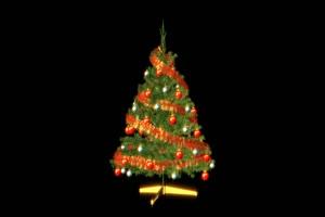圣诞树 圣诞节 免扣视频绿布和绿幕视频抠像素材