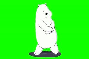 北极熊跳舞 巧影素材 绿幕素材 抠像视频 202011手机特效图片