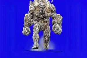 石头人游戏角色素材素材分享 绿幕素材 石头人手机特效图片