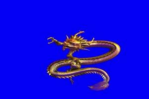 动漫形态金龙 绿幕抠像 视频素材 巧影AE 剪映特手机特效图片