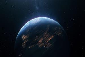 地球自转 行星太空背景视频07手机特效图片