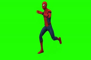 蜘蛛侠 跑 5 漫威英雄 复仇者联盟 绿屏抠像 特效手机特效图片