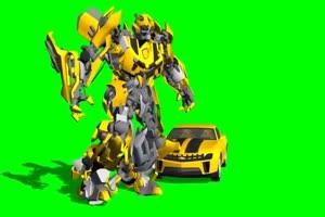 变形金刚  绿屏抠像 特效素材 巧影AE 14