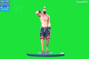 短裤男跳舞堡垒之夜 和平精英 吃鸡人物绿幕视频手机特效图片