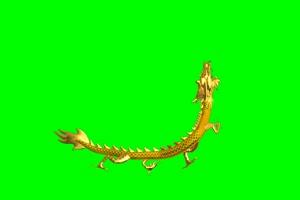 龙03 飞龙 中国龙 绿屏抠像绿布和绿幕视频抠像素材