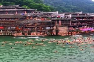 免费手机专用 跳水 池塘 美景视频素材10手机特效图片