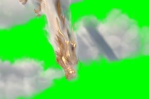 金龙 金龙穿雾 飞天动物 绿幕抠像 特效视频 @特手机特效图片