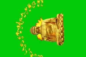 佛主 观音 菩萨 绿屏抠像素材 6手机特效图片