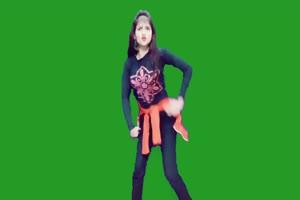 外国跳舞美女 美女跳舞热舞 绿幕抠像 绿屏素材手机特效图片
