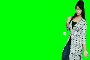免费印度美女跳舞1 美女跳舞热舞 绿幕抠像 绿屏手机特效图片