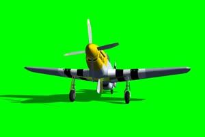 P51 战斗机 2 飞机 绿屏绿幕 抠像素材手机特效图片