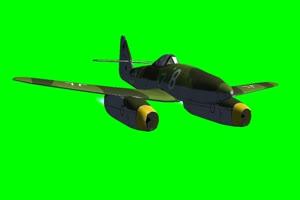 喷气式飞机262 飞 巧影手机特效绿屏抠像素材免费手机特效图片