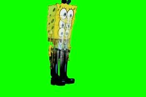 015 Bouncing 海绵宝宝 章鱼哥 绿幕视频素材下载手机特效图片