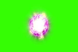 紫色 能量球 对战 绿屏抠像素材