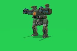 双枪机器人 动物绿幕视频素材下载 @特效牛绿幕手机特效图片