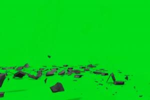 碎片爆裂 绿幕抠像 特效素材 @特效牛手机特效图片