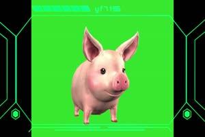 飞猪 小猪 绿屏动物 特效视频 抠像视频 巧影ae素手机特效图片