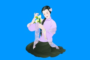 古装美女 2 绿屏抠像素材免费下载手机特效图片