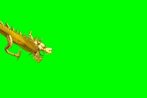 龙02 飞龙 中国龙 绿屏抠像素材带声音 巧影AE