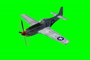 红尾 飞机 战机 3 特效后期 绿屏抠像素材