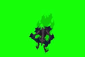 怪兽上面 绿幕视频 绿幕素材 剪映抠像素材手机特效图片