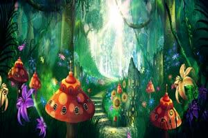 唯美森林 梦幻森林 仙境 背景视频下载41手机特效图片