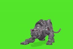 机器豹子 动物绿幕视频素材下载 @特效牛绿幕素手机特效图片
