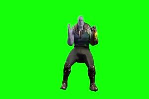 AE素材 灭霸C位跳舞绿屏素材手机特效图片