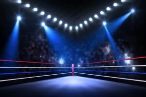 4擂台灯光秀舞台背景 虚拟绿布和绿幕视频抠像素材