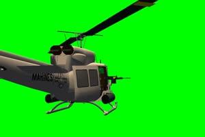 军用直升机 射击火箭 飞机 绿屏绿幕 抠像素材手机特效图片
