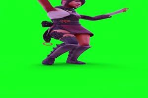 免费C4D粒子人物跳舞破碎3D人物破碎绿幕视频素材手机特效图片