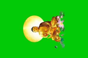 佛主 观音 菩萨 绿屏抠像素材 8手机特效图片