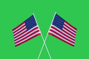 美国4 国旗绿幕后期抠像视频特效素材@特效牛手机特效图片