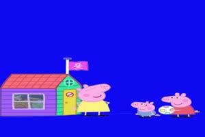 小猪佩奇乔治当小宝宝抠像素材 绿屏素材 特效素手机特效图片