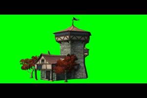 城堡 城堡 免费绿幕视频