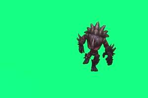 石头人 跳舞  熔岩巨兽LOL 英雄联盟 绿屏抠像素材