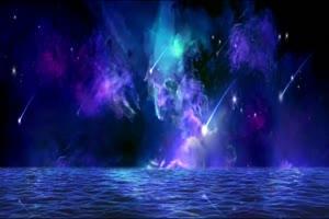 月色海面5有音乐 星空 月
