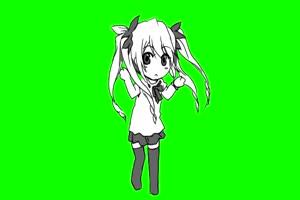 122 日本动漫 美少女 萝莉 绿幕视频You Bought A PS手机特效图片