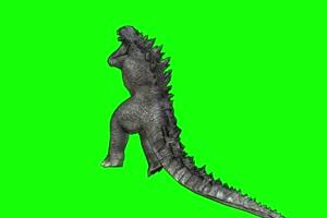 哥斯拉绿幕视频 怪兽恐龙 变异生物 5手机特效图片
