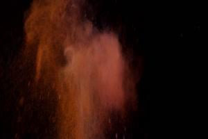 粉尘颜料燃料五彩粉末粒子 侧边 侧面 10 黑幕抠手机特效图片