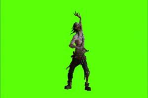 僵尸 丧尸进攻绿幕视频素材 怪兽绿幕剪映抠像手机特效图片