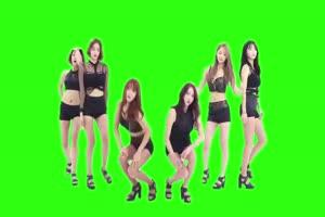 日韩 跳舞 热舞美女 绿屏抠像素材手机特效图片