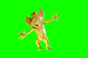 怪物弗雷迪怪胎跳舞 巧影素材 绿幕素材 抠像视手机特效图片