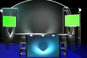 3d 虚拟演播室 绿屏素材绿布和绿幕视频抠像素材