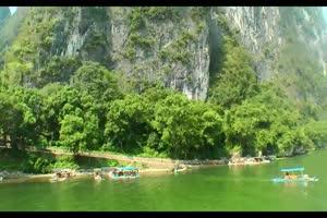 山水背景山水背景 背景素绿布和绿幕视频抠像素材