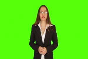 商务人士 美女 职场12 绿屏抠像 特效素材 巧影