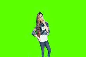 美女跳舞7 美女跳舞热舞 绿幕抠像 绿屏素材手机特效图片